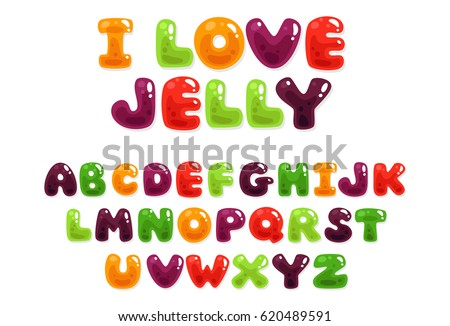 colorful jelly alphabets for...