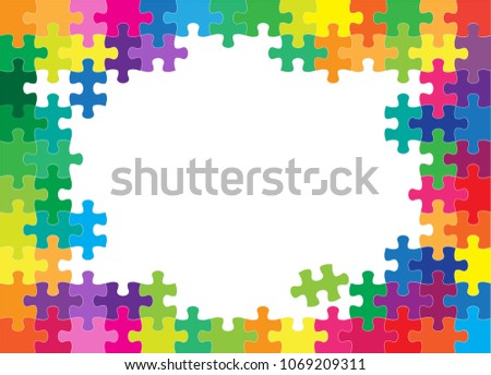 colorful jigsaw puzzles and