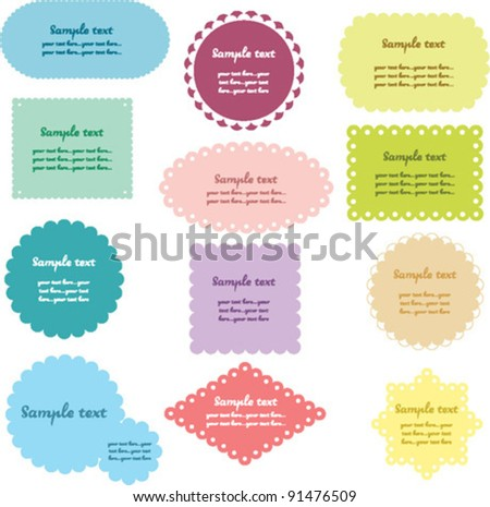 Colorful labels set