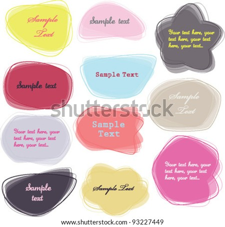 colorful labels / speech bubbles set