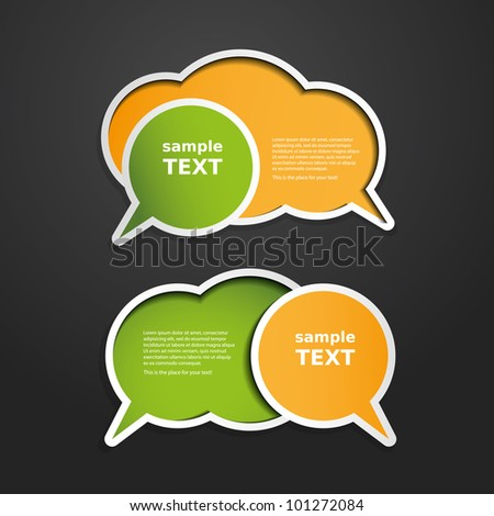 Colorful Labels, Tags, Speech Bubbles