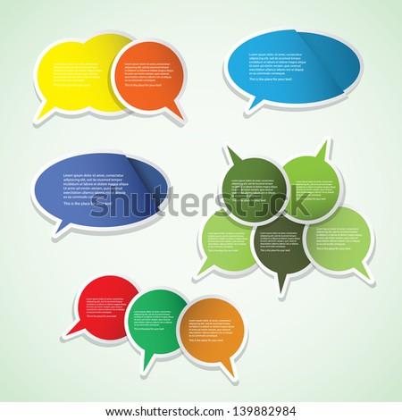Colorful Labels, Tags, Speech Bubbles