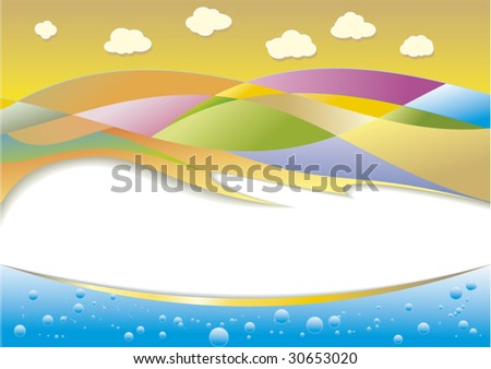 colorful landscape with bright