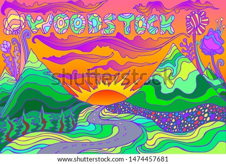 colorful landscape with