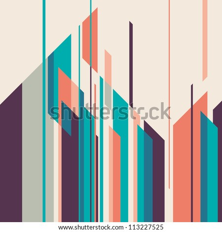 Stock Photo Colorful layout with geometric shapes. Vector illustration.