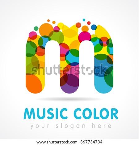 colorful letter m logo design