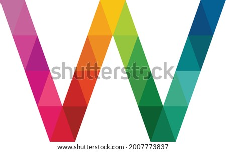 Colorful letter W logo vector template. Letter W logo design vector. Letter W logo web media. Abstract Creative, Digital letter W vector. Element and symbol Zdjęcia stock ©