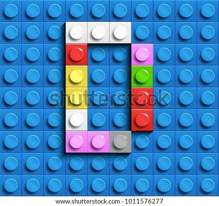 Vector vector de fontes kids 3d download vetores e grficos gratuitos colorful letters d of alphabet from building lego bricks on blue lego brick background blue stopboris Gallery