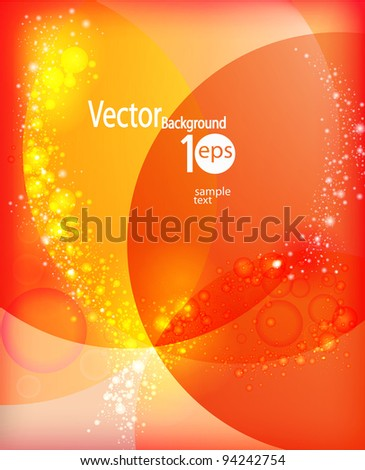 Colorful  light lines vector background.