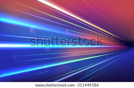 colorful light rays vector