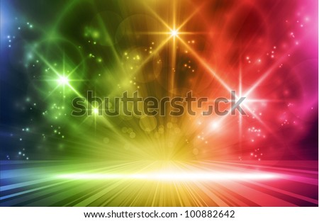 colorful light show