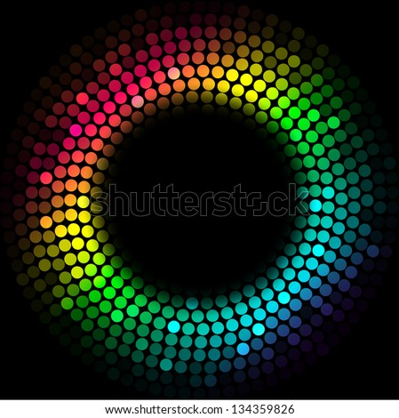 Colorful lights - stock vector