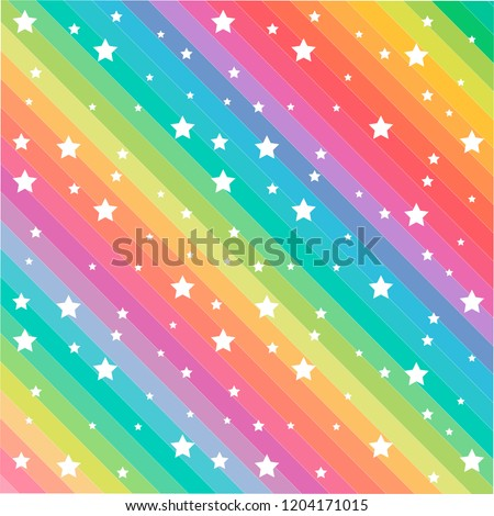 colorful line and funny stars