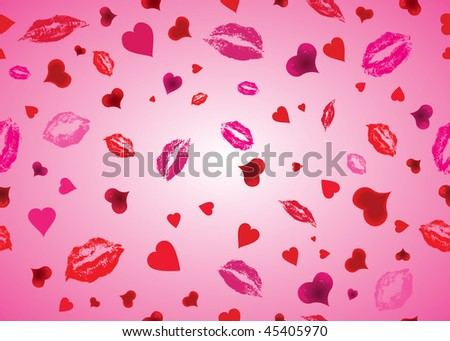 colorful  lips  heart pattern