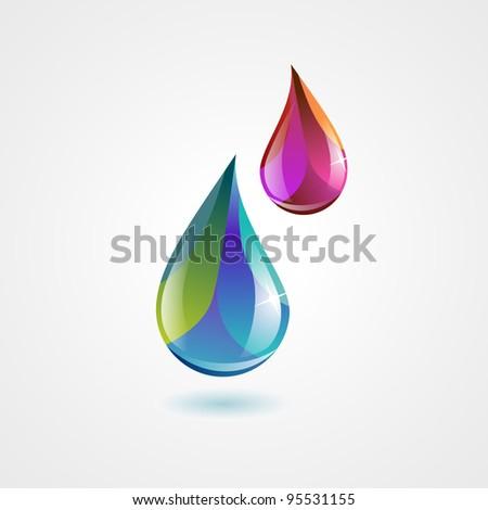 colorful liquid drops