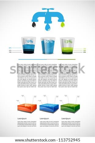 Colorful liquid  presentation