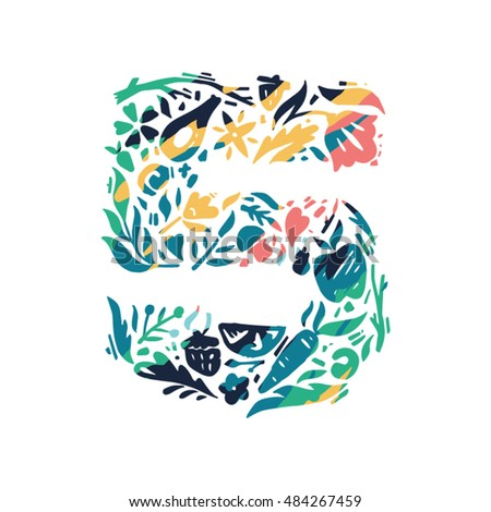 colorful logo concept five with