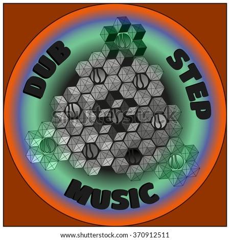 colorful logo dubstep music