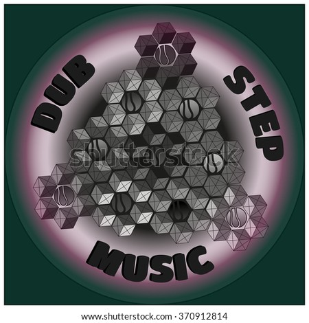 colorful logo dubstep music