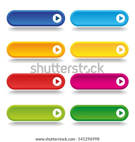 Colorful long round buttons