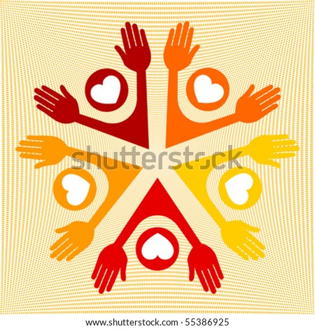 Colorful loving people vector.