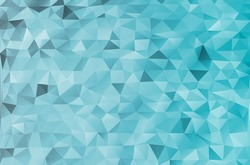 Colorful magic pattern. Mosaic blue design templates. Marine abstract vector geometric triangle texture background for business card and web backdrop.