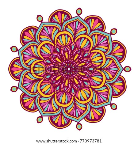 Colorful Mandalas for coloring book. Decorative round ornaments. Unusual flower shape. Oriental vector, Anti-stress therapy patterns. Weave design elements. Yoga logos Vector.