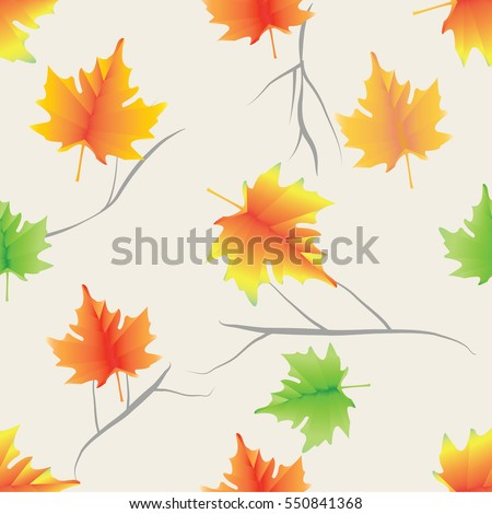 colorful maple leaves and twigs