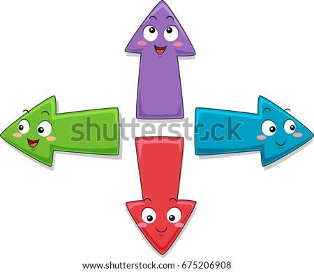 colorful mascot illustration
