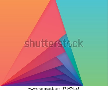 Colorful material design style wallpaper pattern. Abstract overlapping shapes in multiple vibrant gradient color combinations