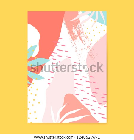 Colorful Memphis style poster vector