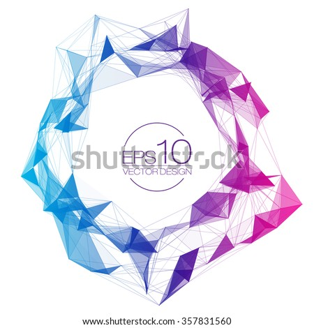 colorful mesh vector background