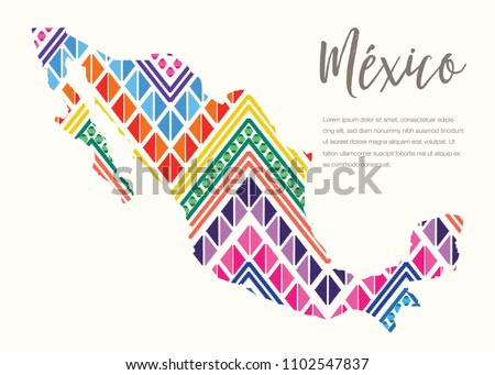 colorful mexican map