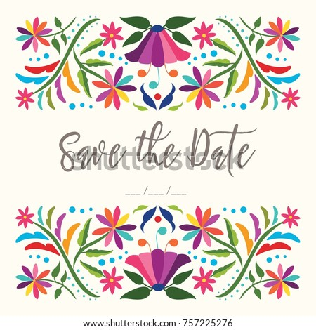 colorful mexican traditional...
