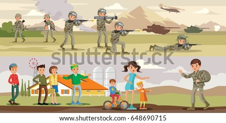 colorful military horizontal