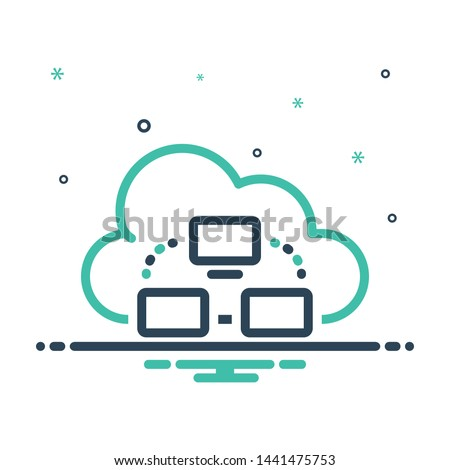 Colorful mix icon for cloud computing