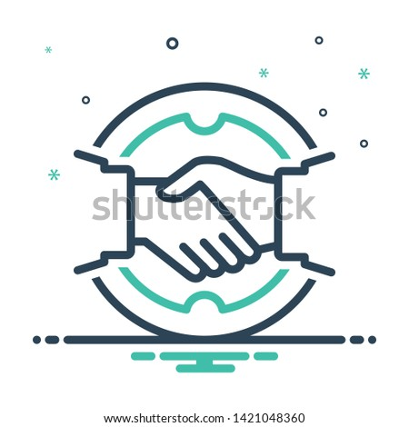 Colorful mix icon for deal Stock photo ©