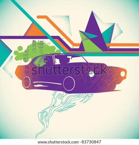 colorful modern layout vector