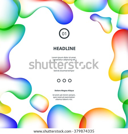 colorful modern poster with
