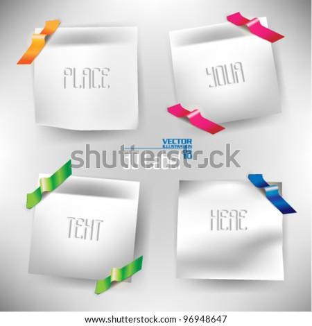 colorful modern sticky note design
