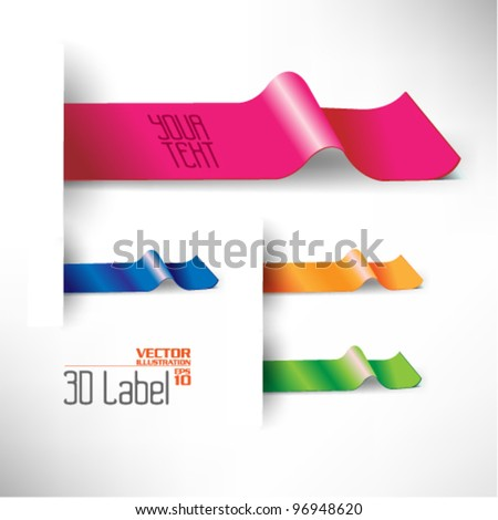 colorful modern three dimensional label design