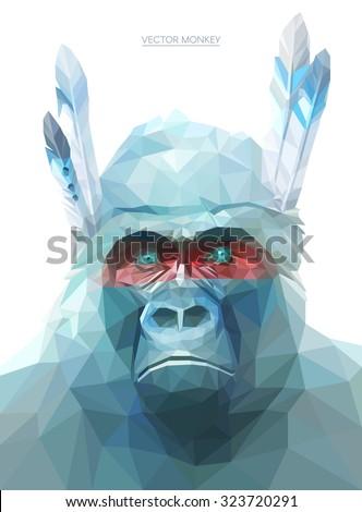 colorful monkey illustration