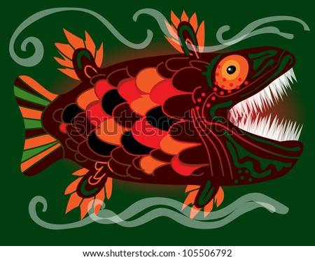 colorful monster fish