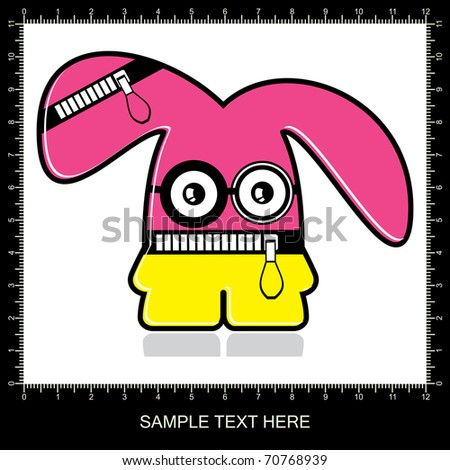 Colorful monster on white background