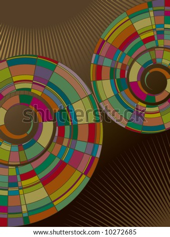 colorful mosaic abstract spiral (vector)