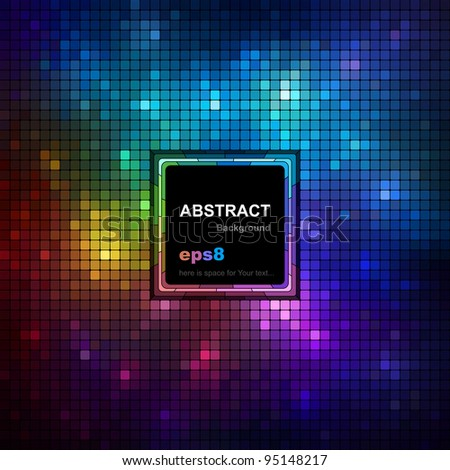 Colorful mosaic background with space for Your text, vector eps8 illustration