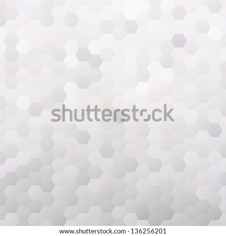 Colorful mosaic banner for your design. Geometric hipster retro background. Honeycomb with gradient background. Elegant vector bokeh texture
