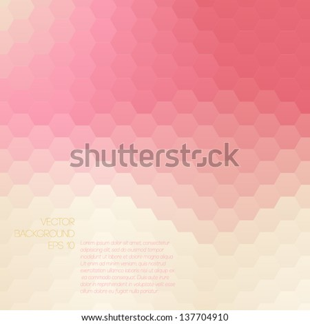 Colorful mosaic banner for your design Geometric hipster retro background Honeycomb with gradient background Elegant vector bokeh texture