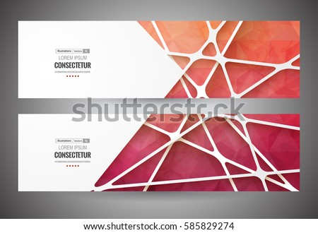 Colorful mosaic banner.  Info graphics composition with geometric shapes. Retro label design. Vector illustration for business presentation