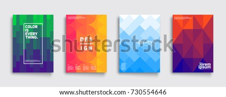 Colorful mosaic covers design. Minimal geometric pattern gradients. Eps10 vector. - Shutterstock ID 730554646